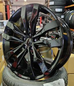 """Black x4 19"""" Tiguan R Suzuka Style Alloys VW Tiguan Scirocco Ateca Audi Q2 Q3"""