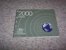 2000 Ford Ranger Electrical Wiring Diagram Manual XL XLT Electric V6 4Cyl 2.5L