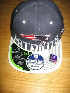 NEW ENGLAND PATRIOTS NEW NWT 2 IN 1 VISOR HAT BY NFL ON FIELD SIDELINE REEBOK