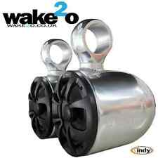 Indy Wakeboard Tower Speakers  Anodized Aluminium universal fit boat
