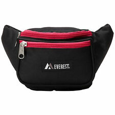 Everest Signature Waist Pack - Standard - Black/Heather Pink