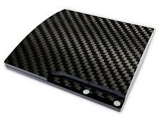 Playstation 3 SLIM Aufkleber PS3 Skin Sticker Design Schutzfolie Carbon Look