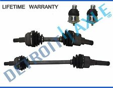 Front Driver AND Passenger CV Axle Drive Shaft + 2 NEW Ball Joint AUTO TRANS