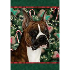 Boxer Brindle Cropped Holiday Treats Flag