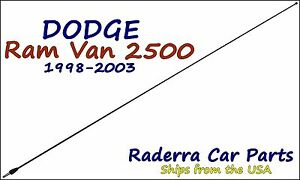 "1998-2003 Dodge Ram Van 2500 - 32"" Black Stainless AM FM Antenna Mast"