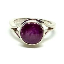 """Antique 925 Sterling Silver Star Ruby Gemstone Women Beautifull 7"""" Ring Sizable"""