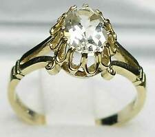 Solid 9ct Yellow Gold Natural Emerald Womens Solitaire Ring - Sizes J to Z