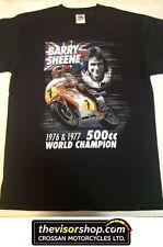 """Barry Sheene "" 500cc World Champion 1976 & 1977  T-SHIRT - Black - S Small"
