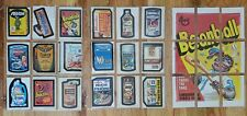 1973 Topps Wacky Packages 3rd Series Complete w/ Checklist Puzzle Set 39/39 + +