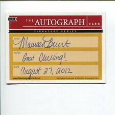 Maureen Clark Brunt US Olympic Curling Team Curler Signed The Autograph Card