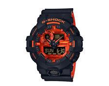 Casio G-Shock Front Button Analog-Digital Black/Orange Men's Watch GA700BR-1A