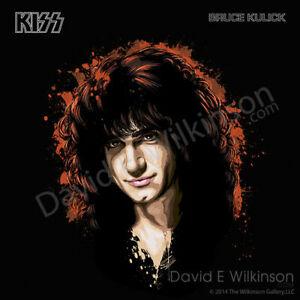 KISS Bruce Kulick Art Giclee' by David E. Wilkinson