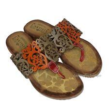 L'Artiste Spring Step Heaven Thong Sandals Lazer Cut Slip On Flip Flops 37/7M