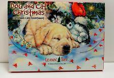 Leanin Tree Christmas Greeting Cards 20 Card Box Set Dog & Cat Christmas.