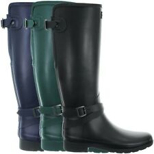 Hunter Women's Refined Adjustable Tall Ankle Strap Wellington Boots Wellies NEW
