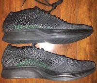 Nike Flyknit Racer Black/Black-Anthracite 526628-009 Men's Size 5 /Women's  6.5
