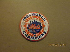 MLB New York Mets Vintage Circa 1986 WORLD CHAMPIONS Baseball Pinback Button
