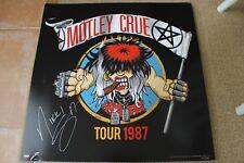 Motley Crue Final Tour SATD Lithograph Ticket Autograph Signed by Nikki Sixx