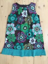 Mini Boden floral green shift dress age 4-5 yrs