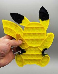 Cute Pikachu Shape Fidget Pop It Simple Dimple Stress Reliever Yellow Black