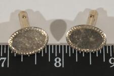 Vintage Mens Goldtone Cufflink Set g25