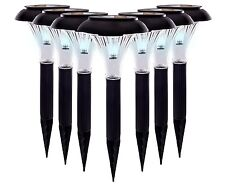 8 Pack Qualitus Solar Powered LED Garden Stake Lights Perfect for Path Driveway