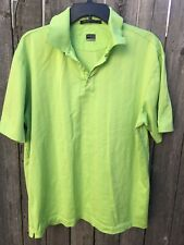 Nike Tiger Woods Golf Polo- Green Short Sleeve Shirt- Size L 9G