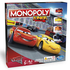 NEW HASBRO MONOPOLY JUNIOR - CARS 3 EDITION C1343 BOARD GAME
