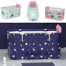 More details for folding bathtubs shower bath tub pvc baby swimming pool with backrest cushion uk