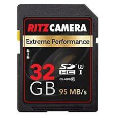Ritz Camera Extreme Performance SD 32GB U3 Class-10 SDHC Memory Card