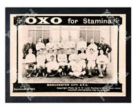Historic Oxo Advertising With Manchester City FC 1904 Advertising Postcard