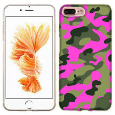 For Apple iPhone 7 8 PLUS Green Pink Camo Case Skin Cover