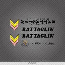 0649 Battaglin Bicycle Stickers - Decals - Transfers - Black