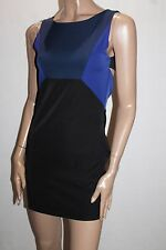 Unbranded Black Blue Colour Block Sleeveless Dress Size 10 BNWT #SS66