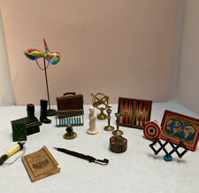 dollhouse miniature vintage excellent artisan manly room items parrot boots 1:12