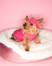 METAL MAGNET Yorkie Pink Vest Hat Background Pink White Bed Dog Dogs MAGNET