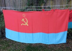 RUSSIAN LARGE POLYESTER FLAG 3 X 5 FEET RUSSIA CCCP USSR SOVIET