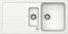 Schock Formhaus 1.5 Bowl Alpina White Granite Kitchen Sink & Waste Reversible