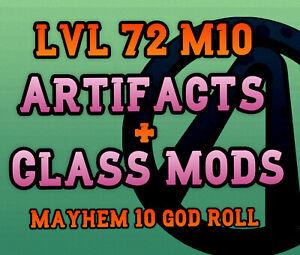Borderlands 3 (ARTIFACTS & CLASS MODS) LEVEL 72 - Buy 2 Get 1 ✨ ALL PLATFORMS