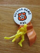 "NHL 35th ALL STAR GAME New York 2.25"" Button w/ Plastic Player Wayne Gretzky MVP"
