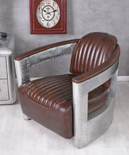 Leather Armchair Aircraft Aluminium Dc3 Aviator Chair Vintage Cocktail
