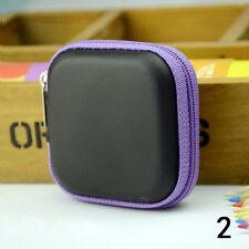 Mini Pocket Hard Case Handy Zipper Storage Bag For Earphone Earbuds SD Card.
