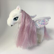 "Mattel Barbie Magic Of Pegasus Little Brietta 7"" Plush White W/ Pink Horse 2004"