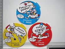 3 x Aufkleber Sticker Philips - Power Sound 96 (6674)