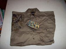 Master Sportsman Men's XL Green Long Sleeve Button Front Shooting Shirt NEW NWT