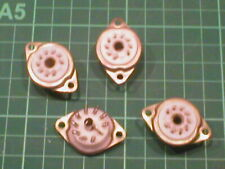 More details for four pieces new old stock ptfe teflon b9a sockets
