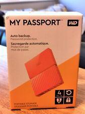 Western Digital My Passport 4TB ORANGE Portable Hard Drive BRAND NEW/SEALED
