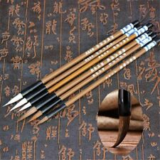 6pcs Chinese Traditional Calligraphy Writing Brush Wolf's Hair Bamboo Brush