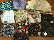 You pick fabric -- Skull/Chemo Surgical Scrub Hat/Cap Handmade BUTTONS save ears