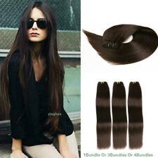 Dark Brown Straight Human Hair Extensions 1/3/4 Bundles Brazilian Virgin Hair